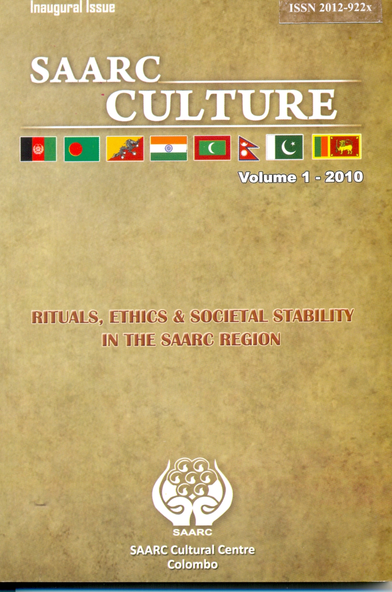 SAARC Culture- Journal Vol.1-2010- RITUALS,ETHICS & SOCIETAL STABILITY IN THE SAARC REGION Image